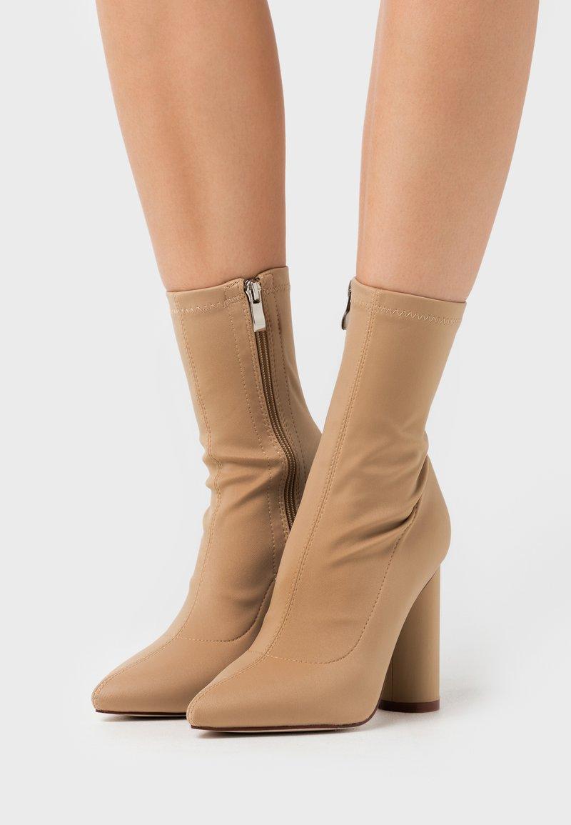 BEBO - ARANZA - High heeled ankle boots - nude