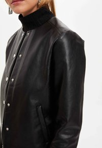 DeFacto - Faux leather jacket - black - 4
