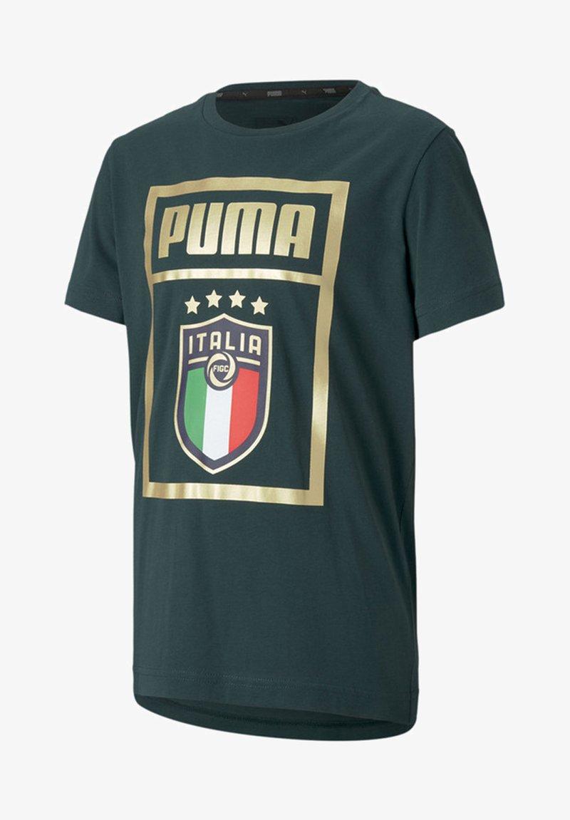 Puma - ITALIA - Print T-shirt - ponderosa pine-team gold
