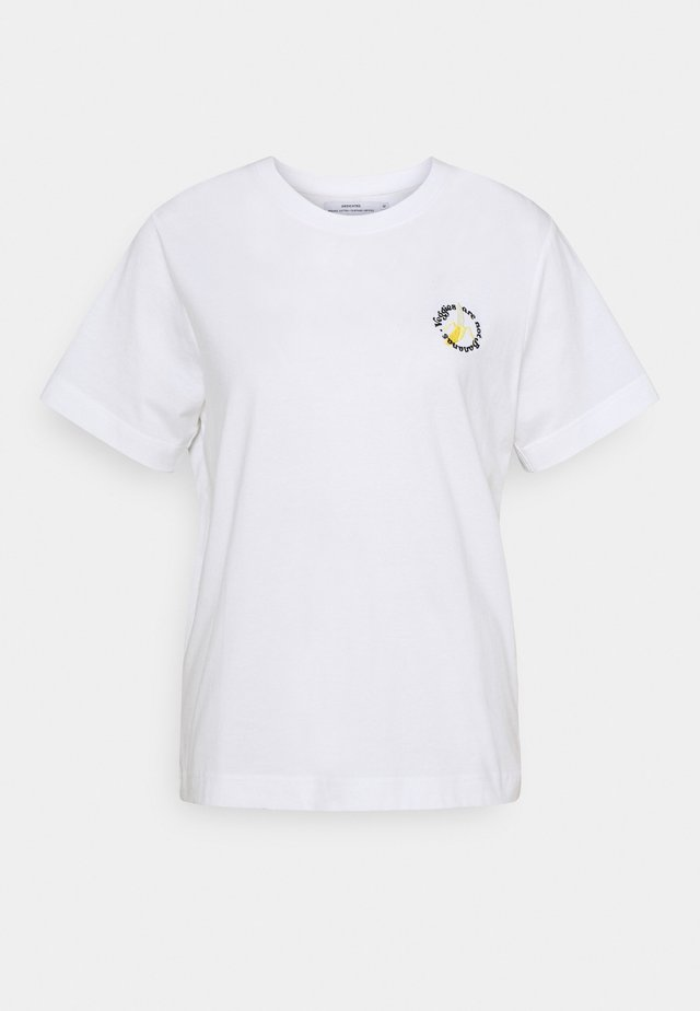 MYSEN NOT BANANAS - T-shirt imprimé - white
