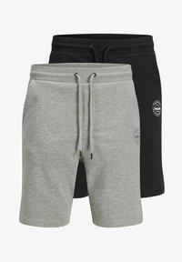 Jack & Jones - 2 PACK - Shorts - black, mottled black, grey - 5