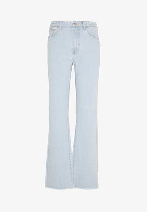 OBJSINYA WIDE  - Straight leg -farkut - light blue denim