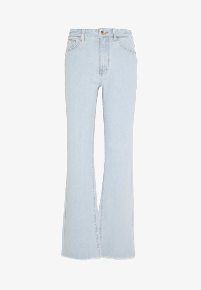 OBJSINYA WIDE  - Straight leg jeans - light blue denim