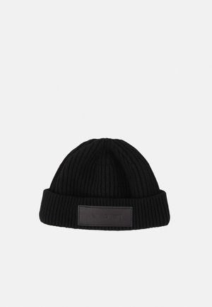 LOGO BADGE BEANIE - Berretto - black