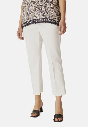 KICK FLARE EN SATINETTE - Pantalones - bianco