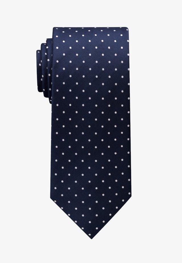 Tie - marineblau/ weiss