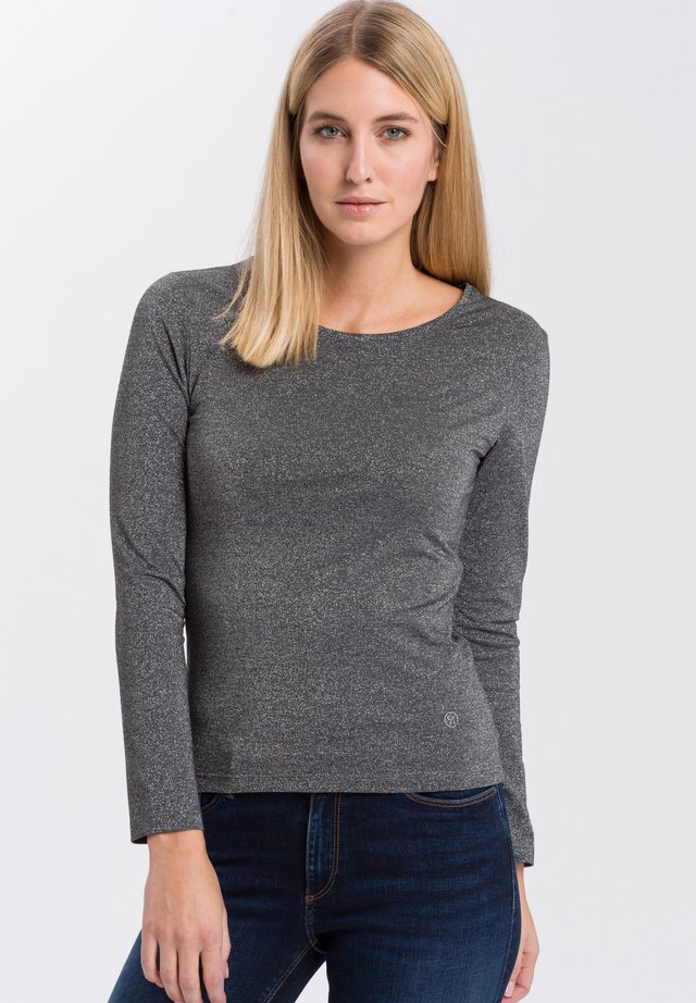 LONG-SLEEVED TOP - Long sleeved top - anthrazit-meliert