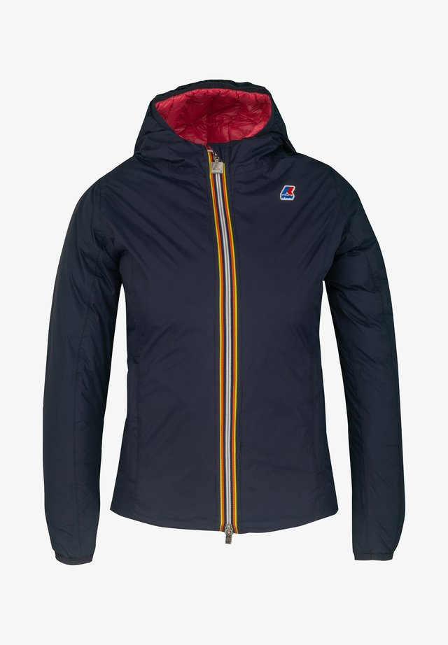 LILY  - Down jacket - blue maritime-red claret