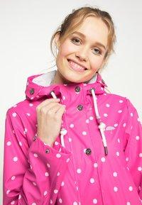 Schmuddelwedda - Waterproof jacket - pink aop - 3