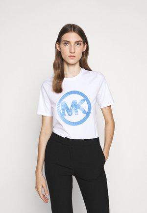 TIEDYE - T-shirt print - crew blue