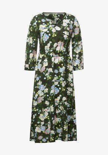 BLUMEN PRINT - Day dress - grün