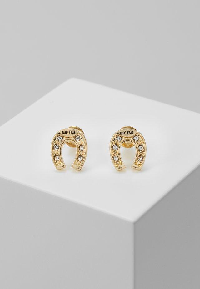 FEELING LUCKY STUD EARRINGS - Korvakorut - antique gold-coloured