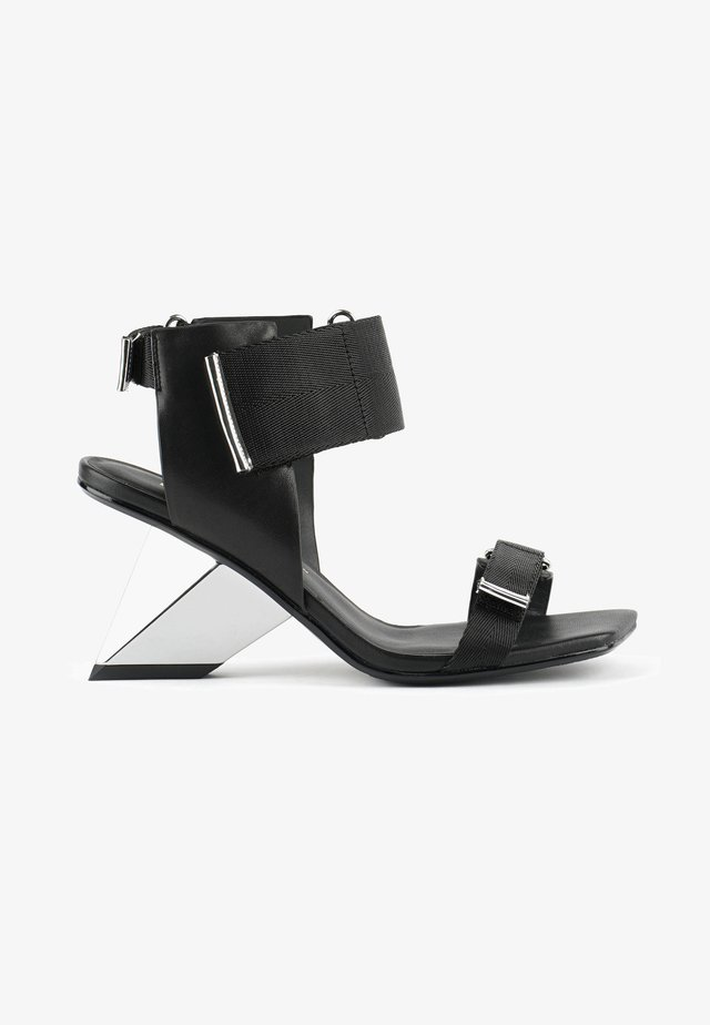 ROCKIT RUN - Sandalen met hoge hak - black