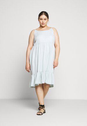 JSHALLOW STRAP DRESS - Day dress - super light denim