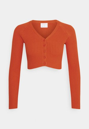 LADIES CARDIGAN - Chaqueta de punto - rust