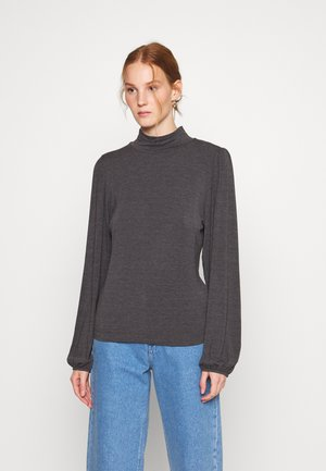 TANNA - Long sleeved top - dark grey melange
