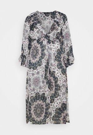 RUFFLE FRONT KIMONO - Korte jurk - multi-coloured