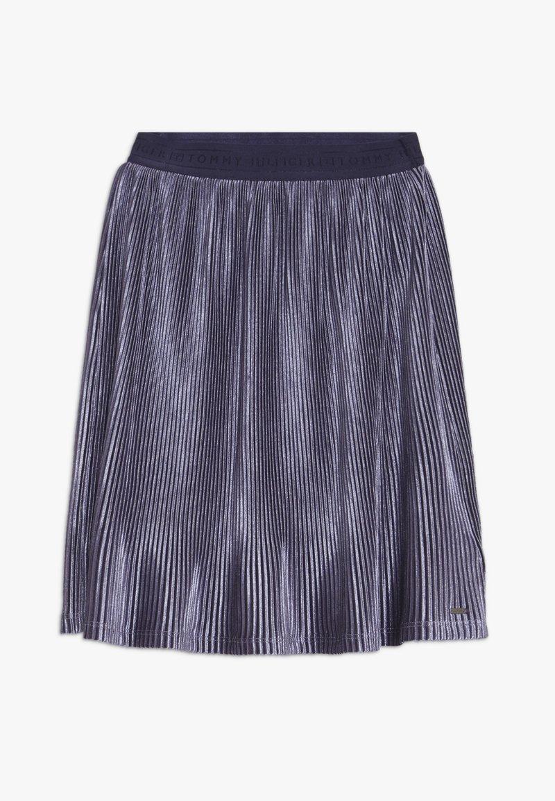 Tommy Hilfiger - VELVET PLISSE SKIRT - Áčková sukně - blue