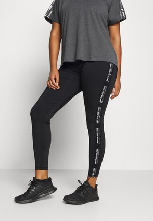 ONPADREY TRAINING CURVY - Leggings - black/white
