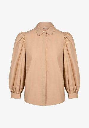 Button-down blouse - beige floral