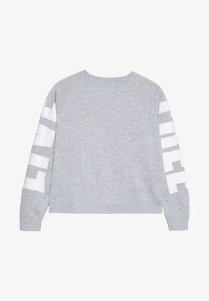 BOXY CREW NECK JUMPER - Mikina - soft grey marle/white