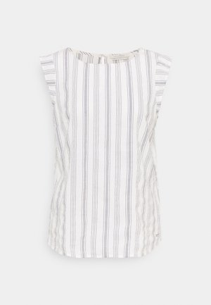 SLEEVE STRIPED - Bluzka - white blue