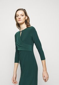 Lauren Ralph Lauren - MID WEIGHT DRESS TRIM - Shift dress - deep pine