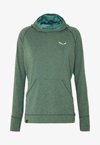 Salewa - PUEZ MELANGE DRY HDY - T-shirt sportiva - feldspar green melange - 3