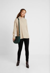 Missguided Petite - CABLE ROLL NECK JUMPER - Pullover - stone - 1