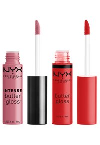 Nyx Professional Makeup - 2ME, LUV ME BUTTER LIP GLOSS DUO-SET - Lip palette - nude pink/warm red - 1