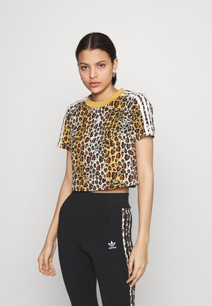 LEOPARD CROPPED TEE - T-shirts med print - multco/mesa
