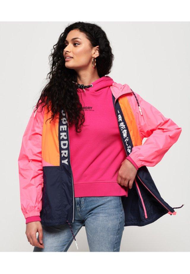 Windbreaker - pink/orange/navy