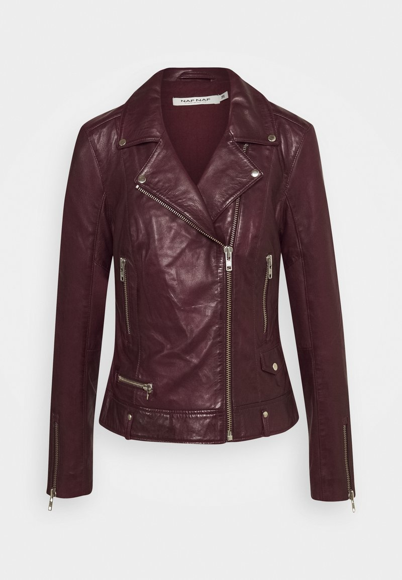 NAF NAF - CAREN - Leather jacket - berry