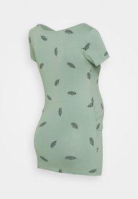 Anna Field MAMA - 3 PACK  - T-shirt z nadrukiem - black/white/green - 2