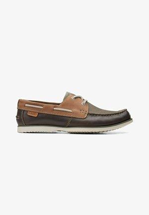 NOONAN LACE - Boat shoes - dark tan