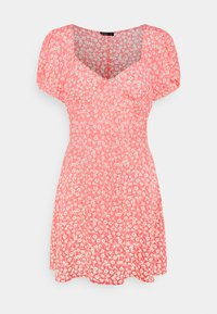 Cotton On - ESSENTIAL TIE BACK MINI TEA DRESS - Denní šaty - strawberry sorbet - 4