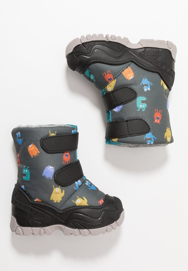 Friboo - Winter boots - black/petrol