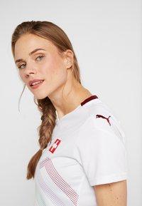 Puma - SCHWEIZ SFV AWAY JERSEY - Club wear - white/pomegranate - 3
