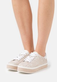 s.Oliver - LACE UP - Trainers - beige - 0