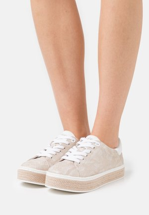 LACE UP - Sneakers laag - beige