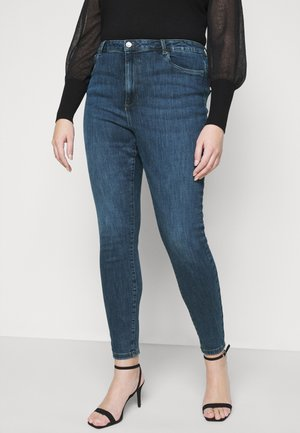 VMLOA RAW - Vaqueros pitillo - medium blue denim