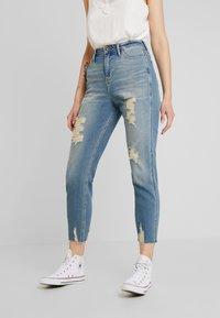 Hollister Co. - MOM - Slim fit jeans - destroyed denim - 0
