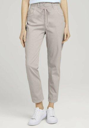 Trousers - dusty beige