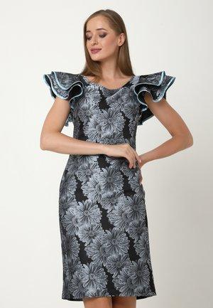 BAYMARA - Cocktail dress / Party dress - grau-blau, schwarz