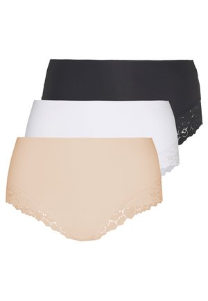 3 PACK - Underbukse - nude/black/white