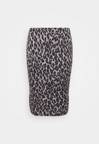 LEOPARD PRINT MIDI TUBE SKIRT - Pencil skirt - black/grey