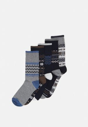 FAIRISLE DESIGNS 5 PACK - Socks - navy