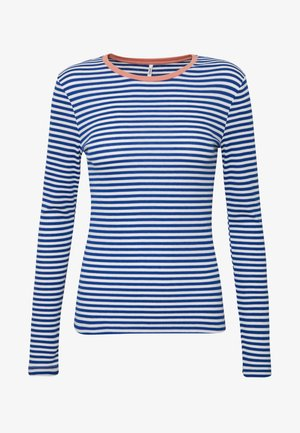 ONLTINEA O NECK - Long sleeved top - mazarine blue/cloud dancer/terra
