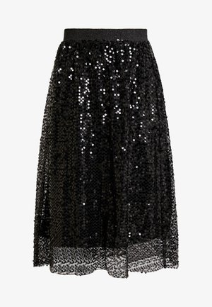 MALY SEQUINS SKIRT - A-line skjørt - pitch black