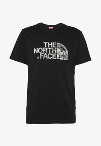 The North Face - WOODCUT DOME TEE - T-shirt print - black - 5